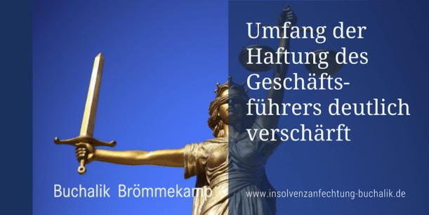 BGH verschärft Geschäftsführerhaftung bei Insolvenz
