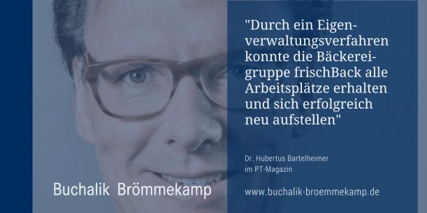 Dr. Hubertus Bartelheimer im PT-Magazin
