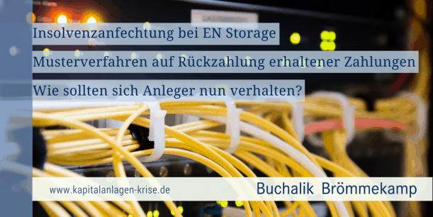 EN Storage Insolvenzanfechtung
