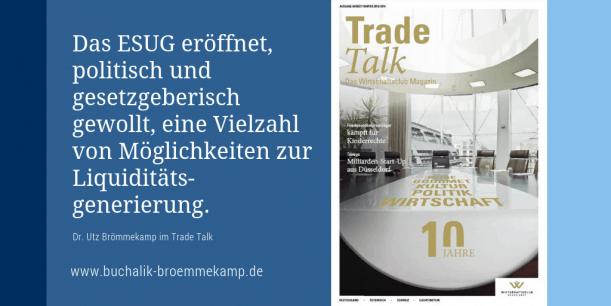 Dr. Utz Brömmekamp im Trade Talk