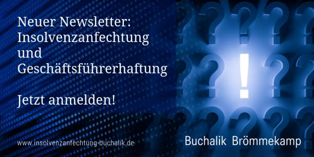 Newsletter: Insolvenzanfechtung und Geschäftsführerhaftung