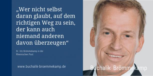 Dr. Utz Brömmekamp in der Rheinischen Post