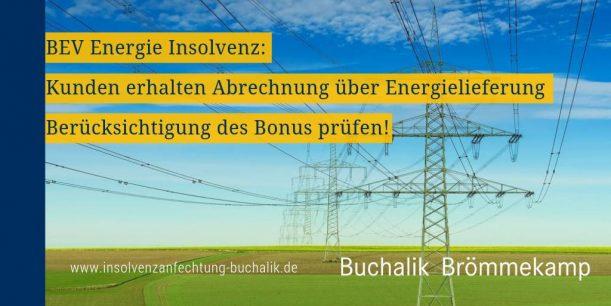 BEV Energie Insolvenz