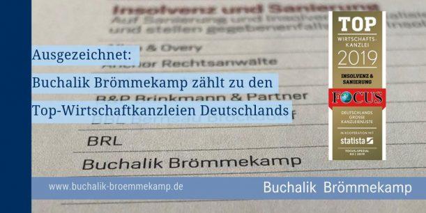 BBR gehört zu den Top-Wirtschaftskanzleien Deutschlands