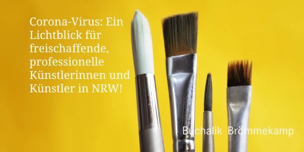 Corona: Lichtblick für Künstler in NRW