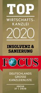 TOP Wirtschaftskanzlei 2020 Insolvenz & Sanierung