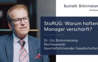 StaRUG: wann haften Manager verschärft?