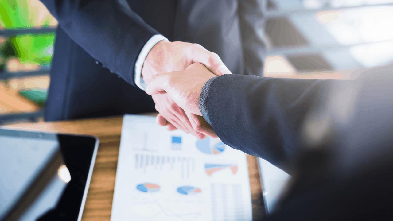 Geschäftspartner Handschlag