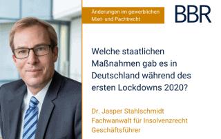 Jasper Stahlschmid - welche staatlichen Maßnahmen gab es in Deutschland während des ersten Lockdowns 2020?
