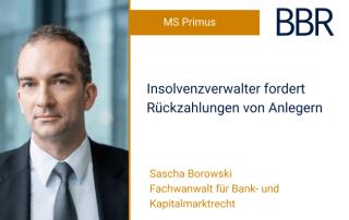Sascha Borowski - Insolvenzverwalter fordert Rückzahlungen von Anlegern