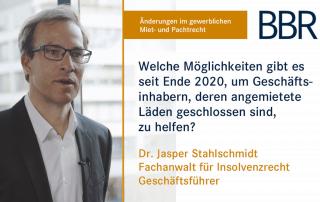 Jasper Stahlschmid - Welche Möglichkeiten gibt es seit Ende 2020, um Geschäftsinhabern, deren angemietete Läden geschlossen sind, zu helfen?