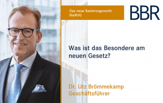 Dr. Utz Brömmekamp - was ist das Besondere am neuen Gesetz?
